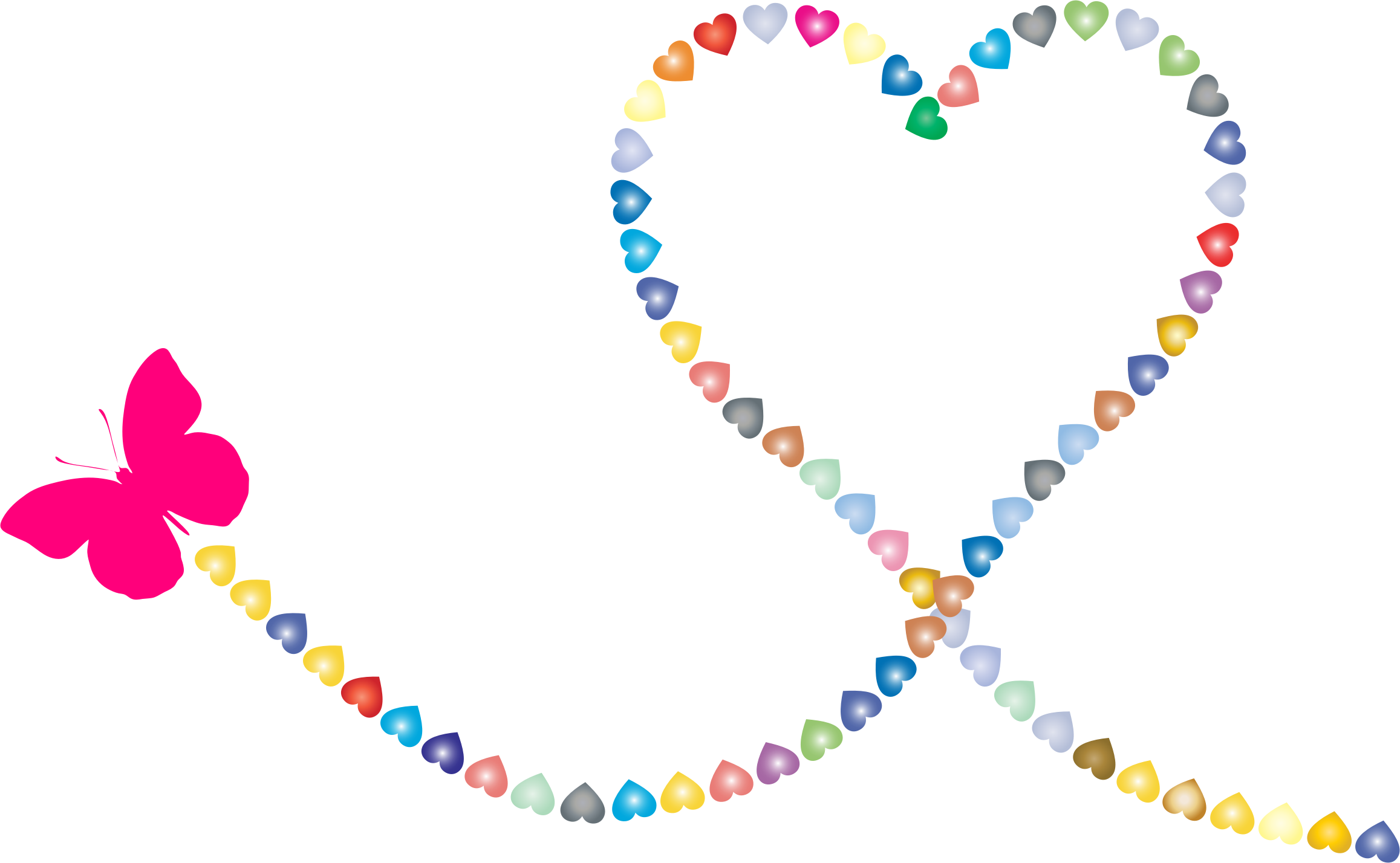 Trail icons png free. Hearts clipart butterfly