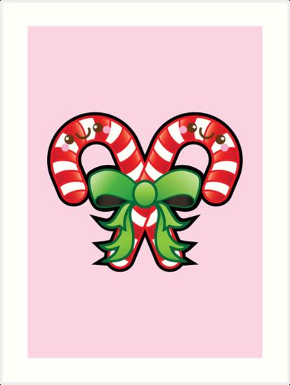 Butterfly clipart kawaii. Cute christmas candy cane