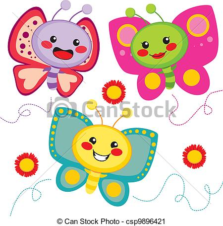 Butterfly clipart kawaii.  collection of drawing
