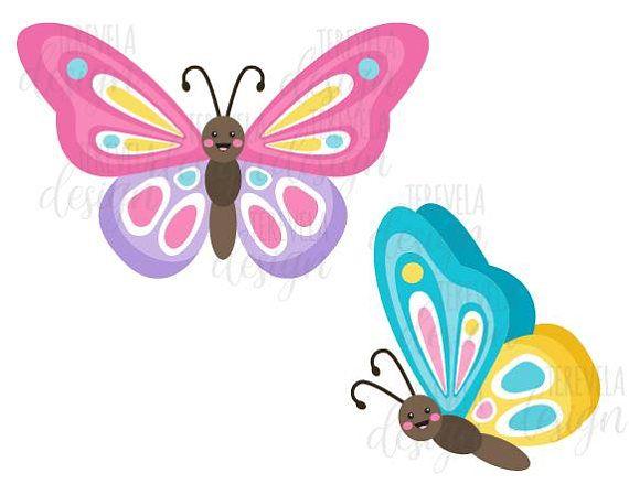best butterflies images. Butterfly clipart kawaii