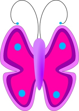 Free corel draw clip. Butterfly clipart magenta