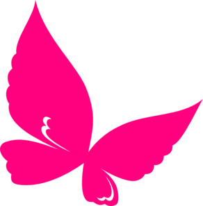 7 clipart pink. Butterfly clip art at