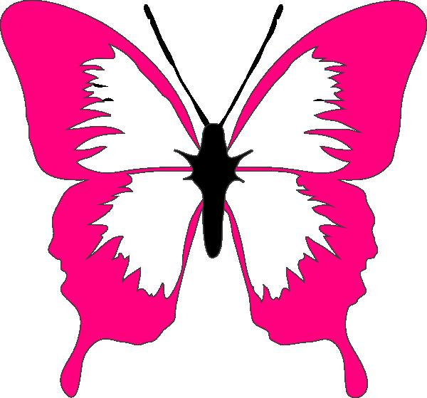 Clip art at clker. Butterfly clipart magenta