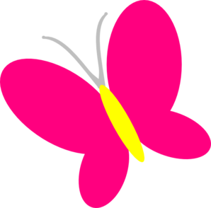 Pink clip art at. Butterfly clipart magenta