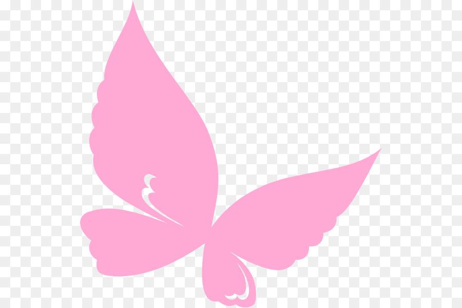 Pink flower cartoon leaf. Butterfly clipart magenta