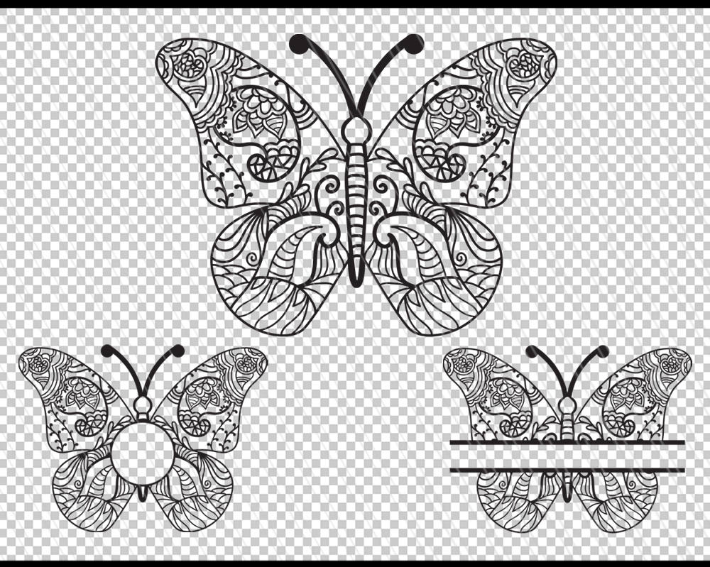 butterfly clipart mandala
