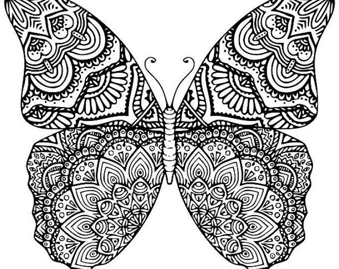 Butterfly clipart mandala. Elephant svg dxf eps