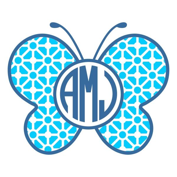 Svg cuttable frames. Butterfly clipart monogram