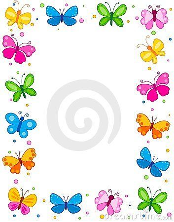 Pin by yfile narap. Butterfly clipart picture frame