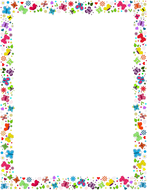 A border featuring butterflies. Butterfly clipart picture frame