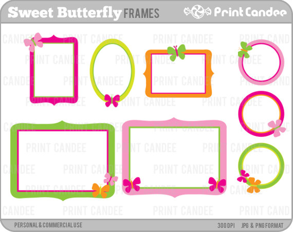 off sale sweet. Butterfly clipart picture frame