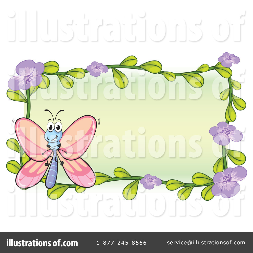Butterfly clipart picture frame. Illustration by graphics rf