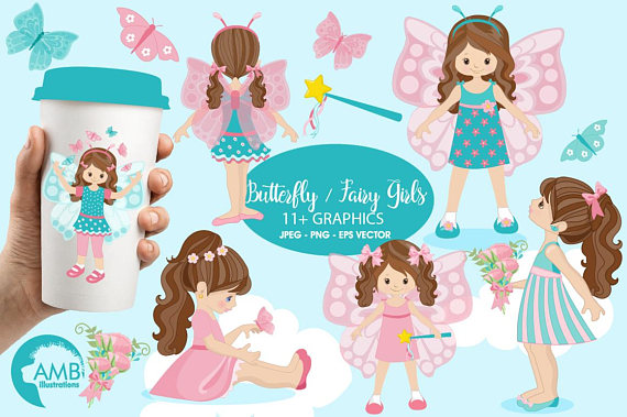 Butterfly clipart princess. Fairy girls amb from