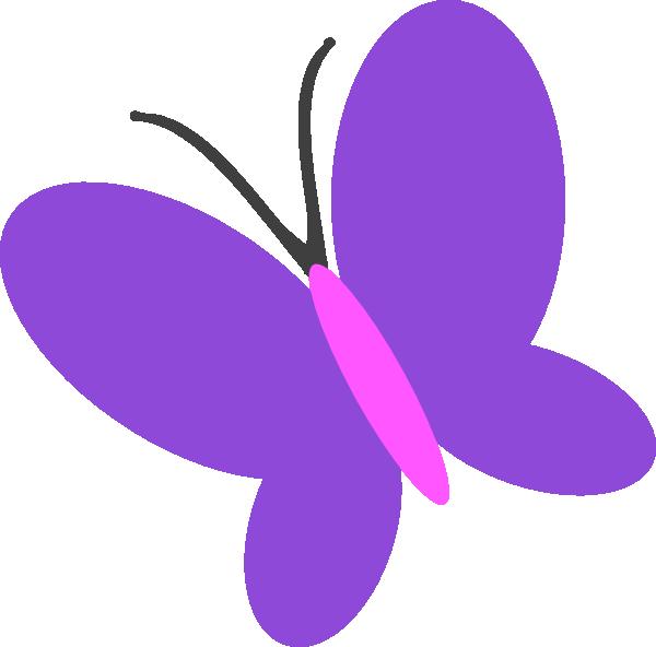 Butterfly clipart purple. Clip art at clker