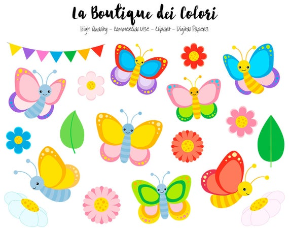 Colorful cute graphics png. Butterfly clipart scrapbook