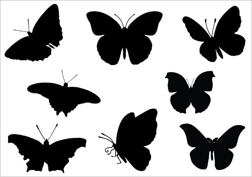 . Butterfly clipart silhouette