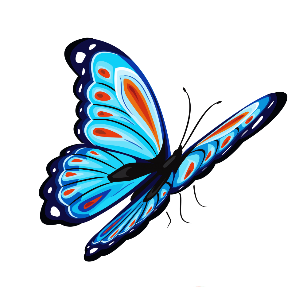 Butterfly clipart translucent. Download blue png for