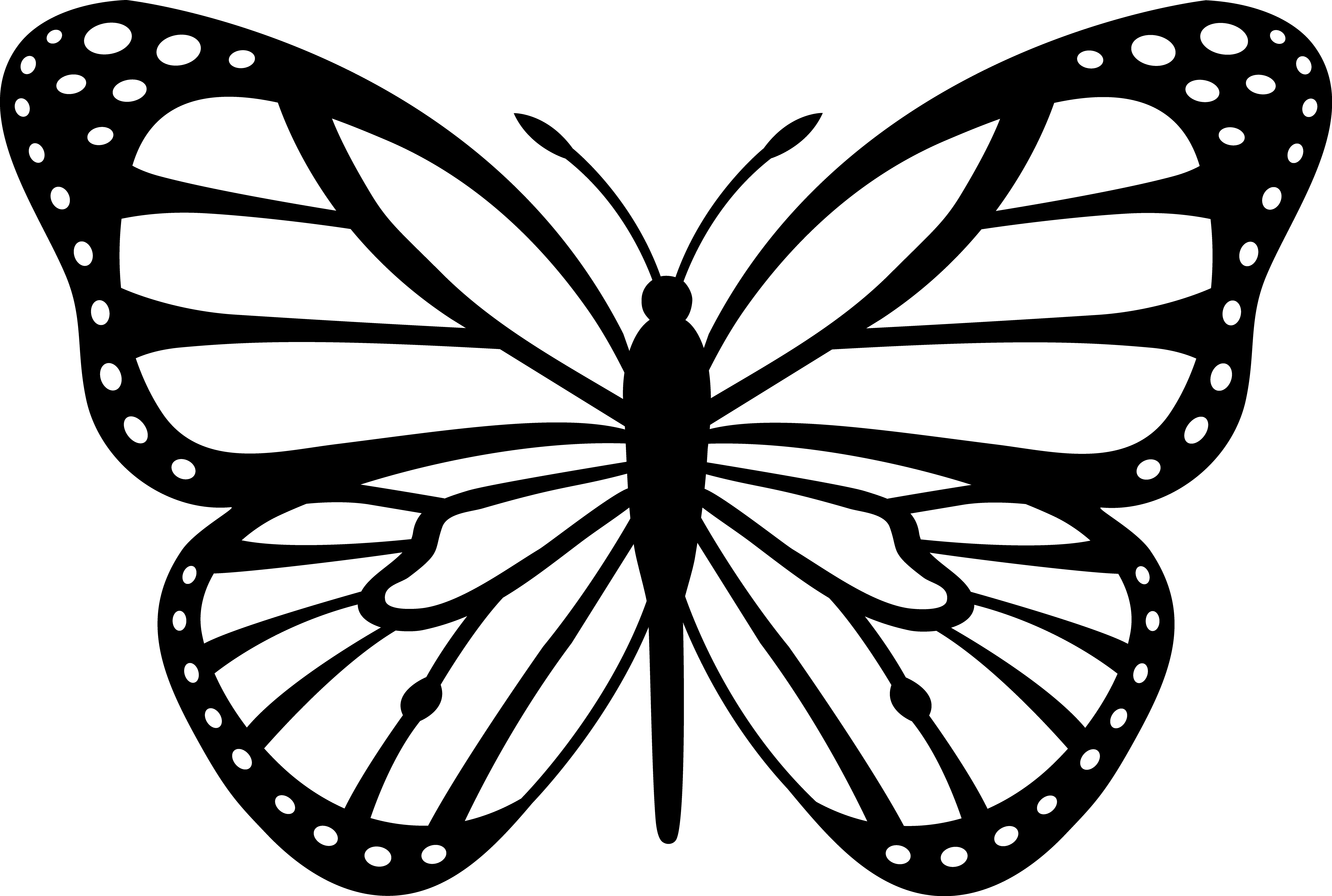 Stencils free black white. Costume clipart butterfly costume