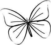 Graphics. Butterfly clipart wedding