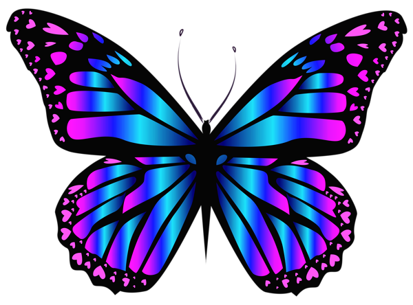 Blue and purple clipar. Butterfly png images