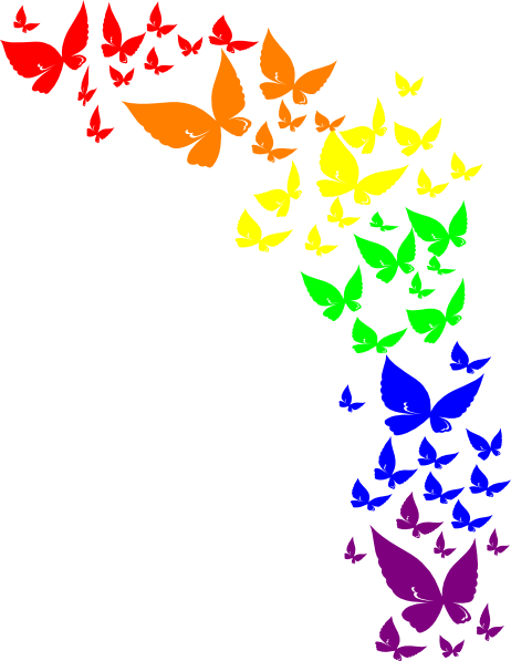 rainbow clipart freeuse. Butterfly vector png