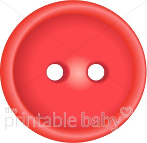 Red brads and embellishments. Buttons clipart baby button