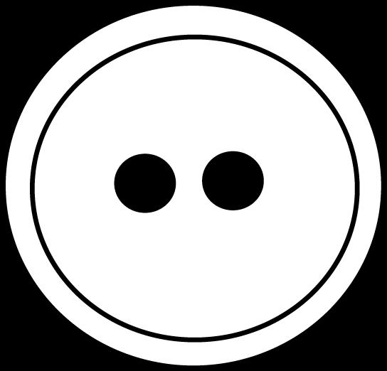 button clipart black and white