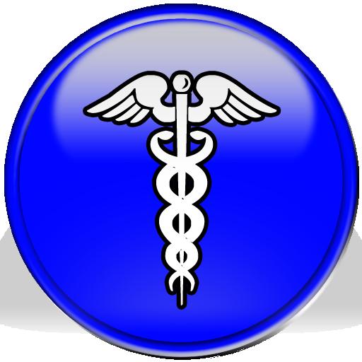 Button clipart blue button. Caduceus medical symbol image