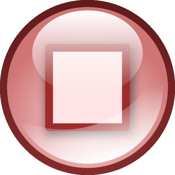 Button clipart boton. Stop audio set clip