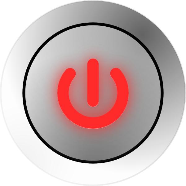 Power states on off. Button clipart boton