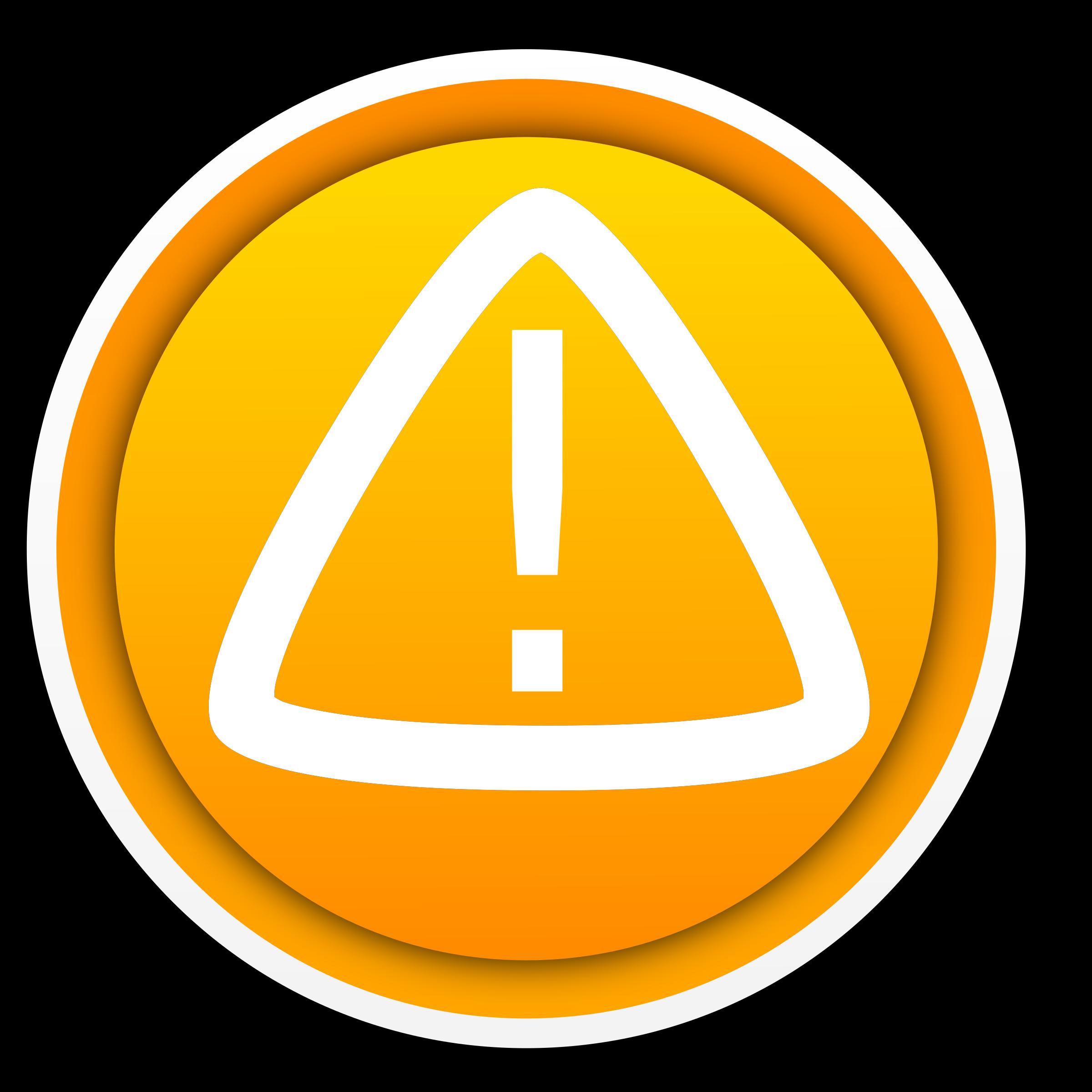 Warning advertencia big image. Button clipart boton