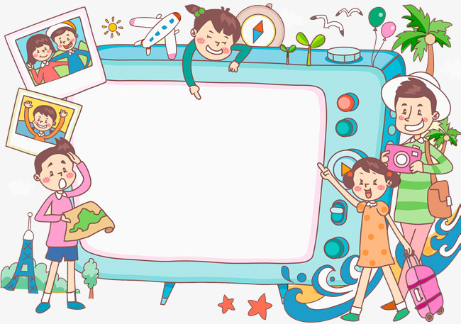 Button clipart cartoon. Tv set hand television