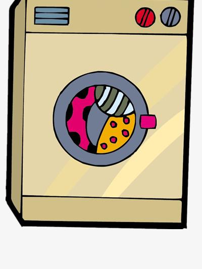 Washing machine color push. Button clipart cartoon
