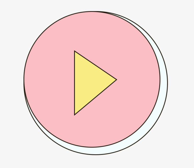 Pink pause key png. Button clipart cartoon