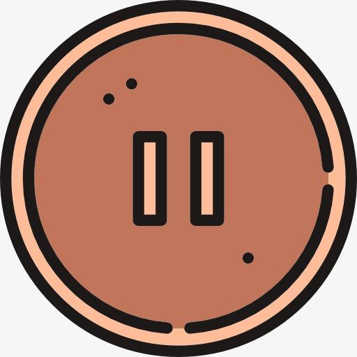 A pause push time. Button clipart cartoon