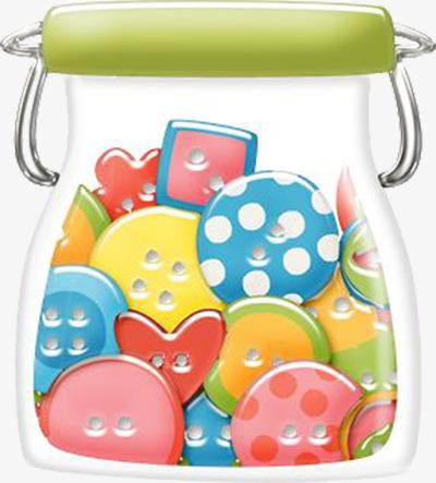Button clipart cartoon. Buttons jar decorative material