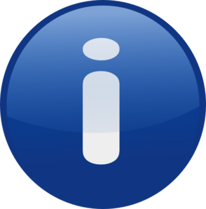 Information clipart. Blue glossy button clip