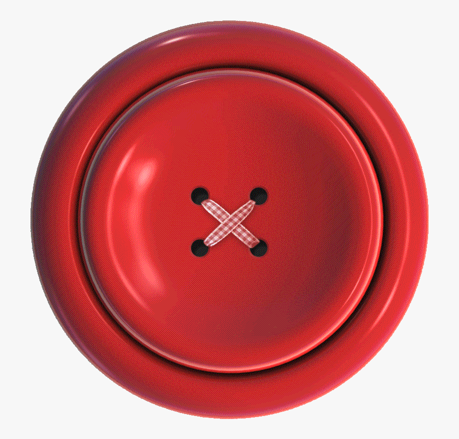 Button clipart clothes button. Red small cloth png