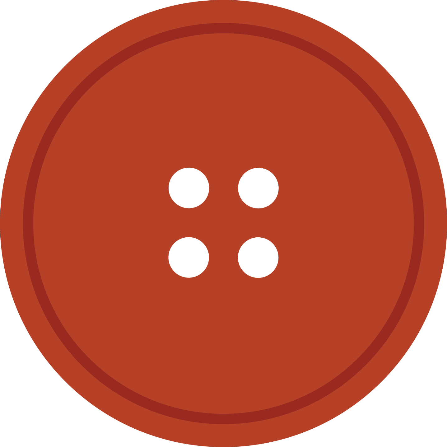 Clothes button png incep. Number 4 clipart bright