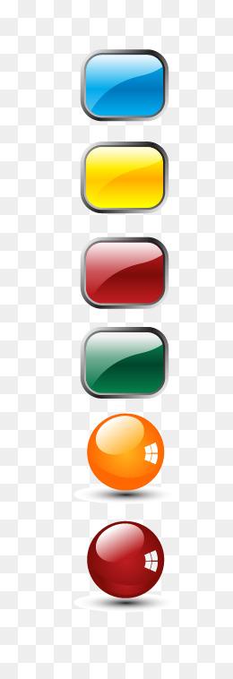 Button clipart colored button. Color png vectors psd