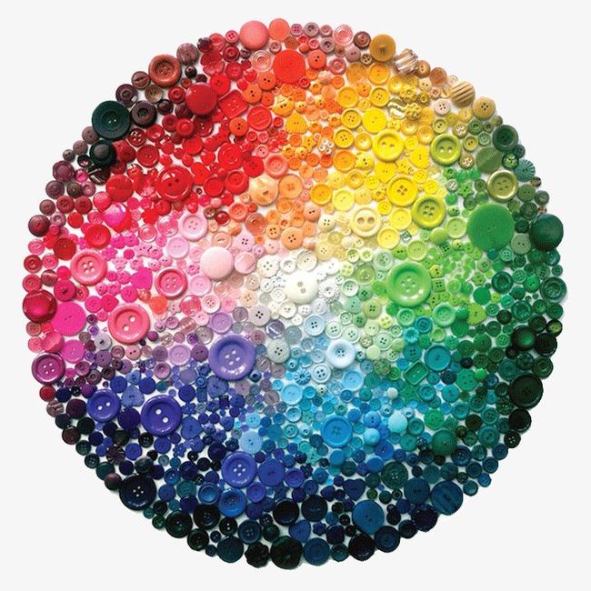 Art rainbow buttons color. Button clipart colored button