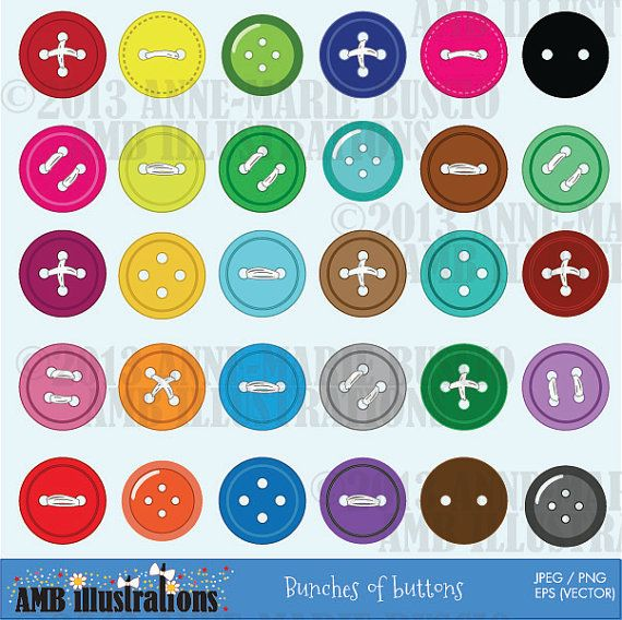 Button clipart colored button. Sewing buttons for your
