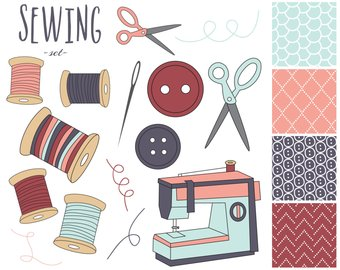 Button clipart craft.  off sewing machine