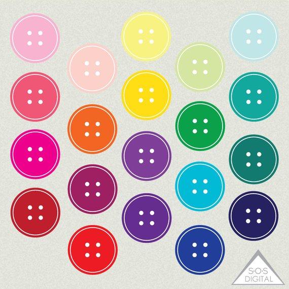 Clip art png buttons. Button clipart cute button