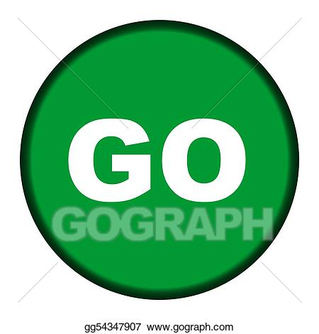 Green go gg gograph. Button clipart drawing