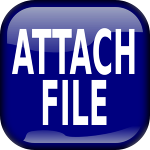 Buttons clipart file. Blue attach square button