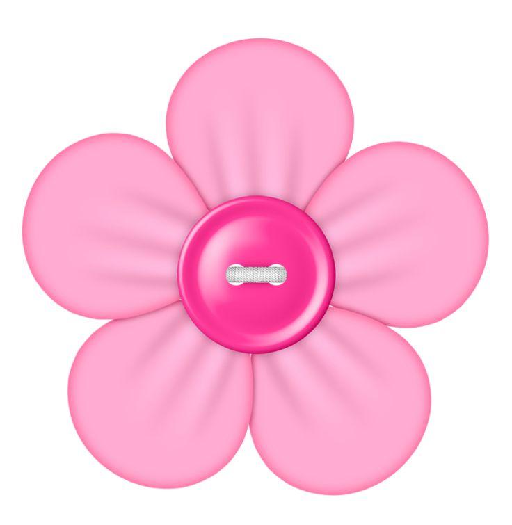 button clipart flower