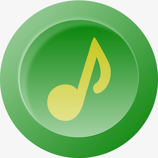 Button clipart green button. Push music png image