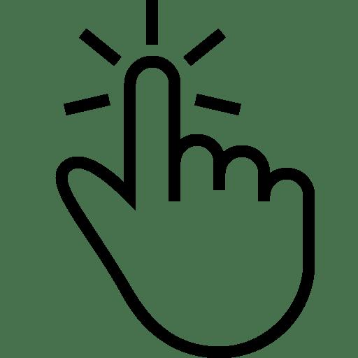 Button clipart hand. Click here blue transparent