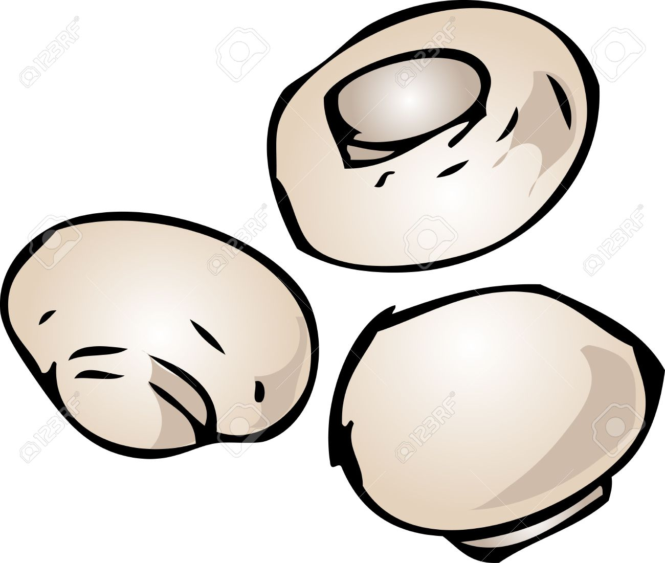 Mushroom pencil and in. Button clipart hand